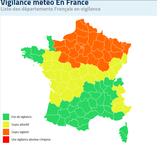 Perturbation pluvio neigeuse le point 8h00 agate france - Meteo france compiegne ...